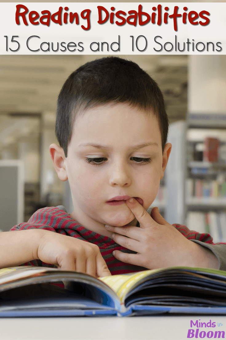 Reading disabilities are all too prevalent in schools today. Our guest blogger is a reading specialist, and she's sharing 15 signs that a student has a reading disability, as well as 10 solutions for reading disabilities to aid in reading progress for kids.