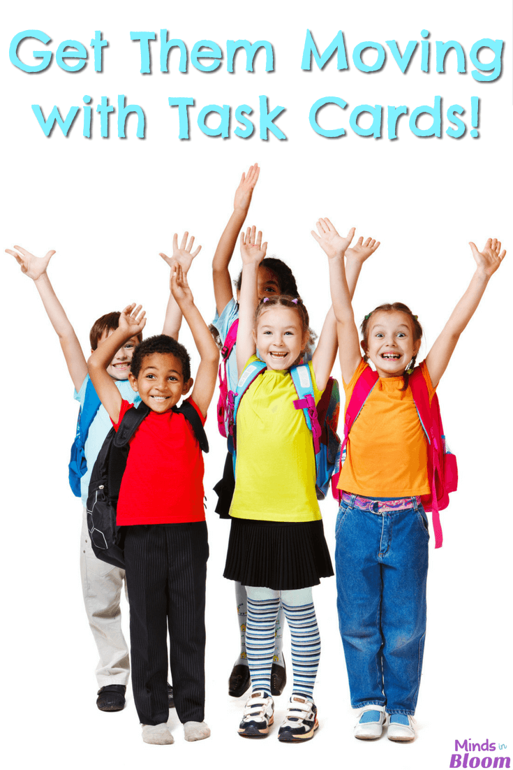 Kids need stimulation while they're learning; they can't be expected to just sit and absorb the information that's being thrown at them. That's why our guest blogger shares her three favorite ways to get them moving - with the help of task cards! She shares three activities she likes to use that get students out of their seats and moving while they work through sets of task cards. Read all the details inside!