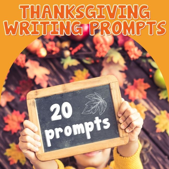 20 Writing Prompts for Thanksgiving