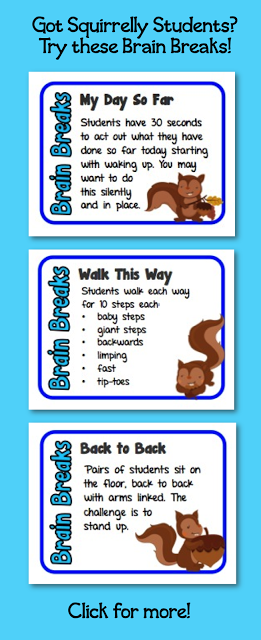 Are you using brain breaks in your classroom? If not, then you should consider learning more about why they're so beneficial - which I explain in this post! You'll also learn more about a set of 60 brain break cards that I can make, all of which take less than five minutes and provide a great opportunity for students to move and recharge their brains. Click through to learn more!