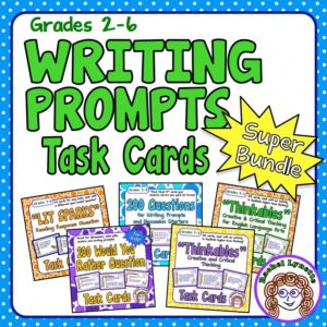 Grades 2-6 Writing Prompt Task Cards Super Bundle