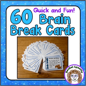 60 Brain Break Cards