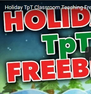Watch this Holiday Freebies video created by Flap Jack Educational Resources. It includes a compilation of free resources and shows you how to use them!