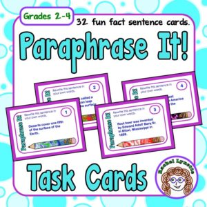 Paraphrase It Task Cards for Grades 2-4