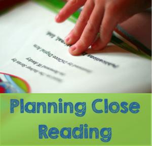 Planning Close Reading