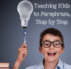 Teaching kids to paraphrase is often just as challenging as paraphrasing is on its own. Rachel Lynette shares some of her top tips for teaching students how to paraphrase, step by step, in this blog post. You can also learn more about two sets of paraphrasing task cards that are available in her Teachers Pay Teachers store!
