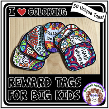 Brag tags your students can color!