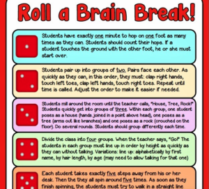 Brain breaks are great to incorporate into your day in the classroom, but they should be focused on more than just movement. This Roll a Brain Break activity will have your students working on things like coordination and spatial awareness, too!