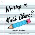 Writing in math class may seem unexpected, but it actually provides a way for students to strengthen their math skills and understanding. Our guest blogger shares how she uses journals in math class and some examples of different writing prompts that she assigns her students. She describes how journaling in math has helped her students to better master the content and enjoy math class!