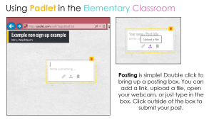 Integrating Technology in the Classroom Using Padlet