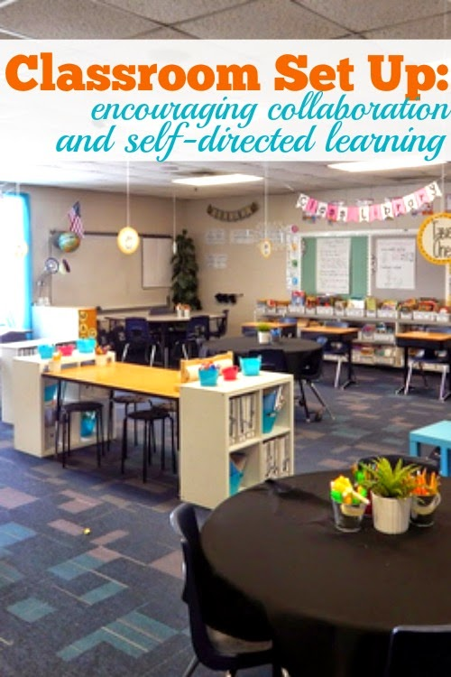 Classroom Collaboration Ideas ~ New classroom set up encouraging self directed learning