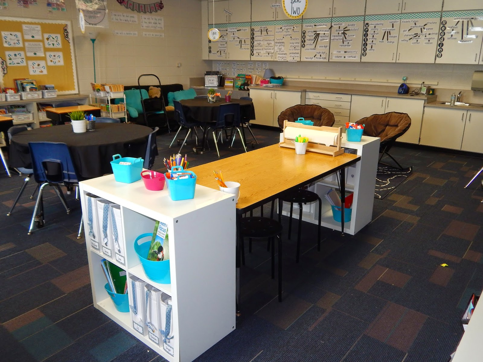 Collaborative Setting Classroom ~ New classroom set up encouraging self directed learning