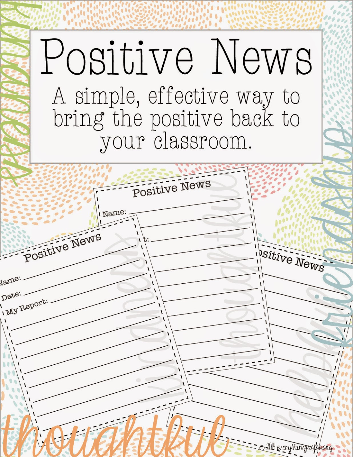 Teachers everywhere struggle with negative classroom environments. Check out this positive news board to bring the positive back to your classroom. You might be surprised to see how quickly your students compliment one another and contribute to this new positive classroom environment!