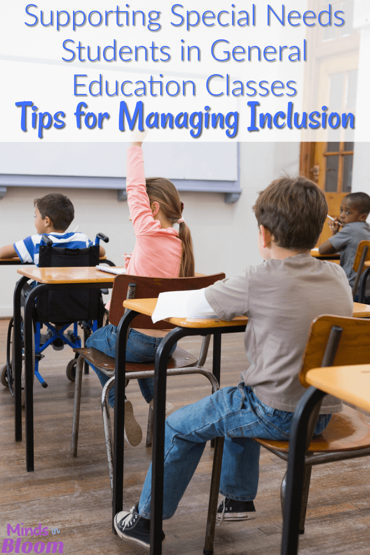 When the decision is made to include special needs students in the general education classroom as their least restrictive environment, teachers must work together to support those students. Our guest blogger shares several tips for supporting students with special needs in general education classes. Click through to read her tips!