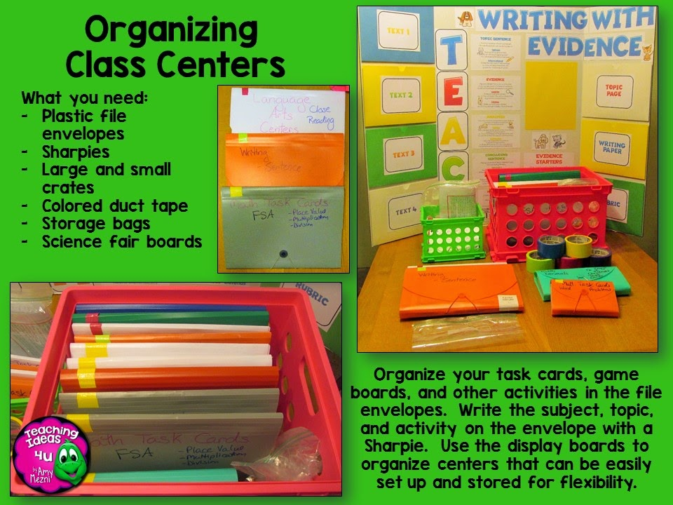 If you want to start using centers in your classroom, then you need to check out this guest post on tips for organizing classroom centers. They can be daunting, but with a few simple tricks, managing centers is made much easier. Click through to read more!