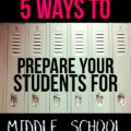 Transitioning from the primary grades to middle school is a challenging thing to do for many students. This secondary teacher gives five tips on ways to prepare students for middle school. Teaching them these skills and habits makes them that much more prepared!