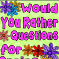 These free Would You Rather questions make for a perfect addition to your instructional plans! You can use them as discussion starters or as writing prompts. Your students will enjoy the fun, thought-provoking questions! Click through to download your freebie.