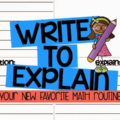 Can your students write to explain their thinking in math? The Common Core State Standards put more pressure on students' ability to thoroughly explain their solutions, and this new math routine will help you teach them how to do that.