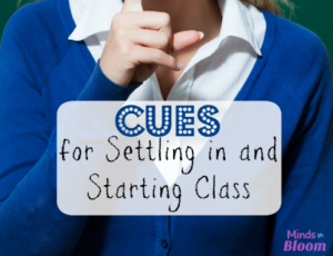 Effective classroom management includes cues for settling in and starting class. Our guest blogger shares his favorite ways to get students' attention and alert them to these important cues.