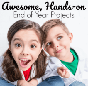 When it gets to the end of the school year, we all know that kids' brains are pretty much fried, and they're not very interested in learning anything new. How can we combat that? Our guest blogger shares three end of year projects that are hands-on and creative. Click through to read more!