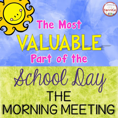 Learn why the morning meeting is the most valuable and important part of every school day! Our guest blogger shares lots of excellent insight on morning meetings, so if you're not doing them yet - we bet you will be after you read this guest post on Minds in Bloom!