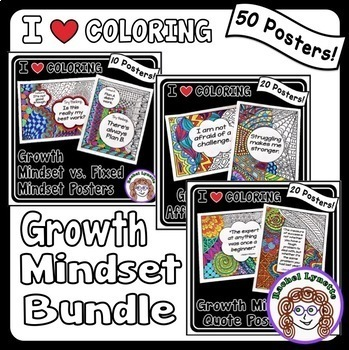 Growth mindset Posters student can color!