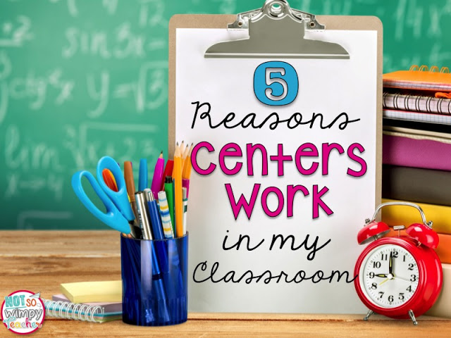 Centers work in many classrooms, but do they work in yours? Not So Wimpy Teacher is our guest blogger for this post, and she shares five reasons centers work in her classroom - all the more inspiration for you! Get your tips and guidance in this post.