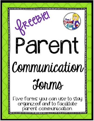 Parent Communication Forms Freebie