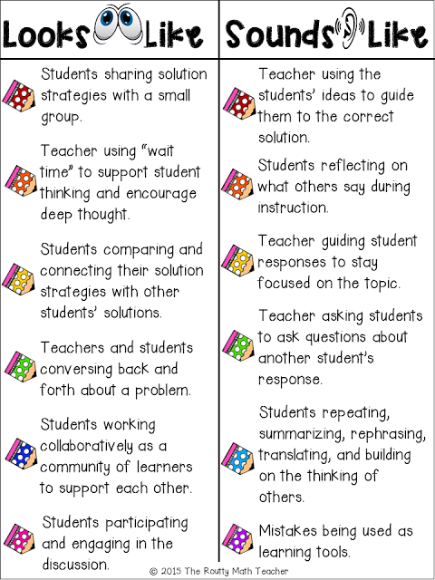 Math talk is a strategy to get students discussing and comprehending different math strategies to solve problems. This isn't something that can just be implemented right away; it takes time to build the right classroom environment to make math talk successful.