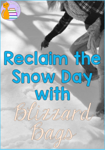 Reclaim the Snow Day with Blizzard Bags