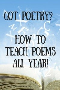 Got Poetry? How to Teach Poems All Year