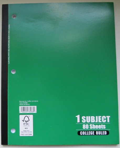 Tape Bound Notebook