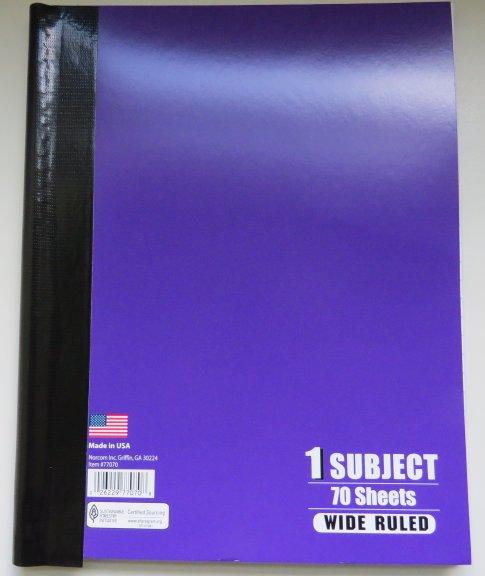 Spiral Bound Notebook with Gorilla Tape