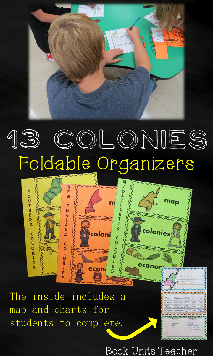 13 Colonies Foldable Organizers