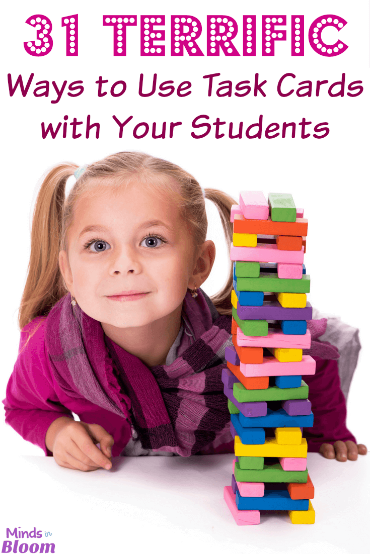I've listed 31 ways that you can use task cards inside this blog post. From playing to Scoot to putting them in a photo album for quick review to having parent volunteers work with individual students, I've got a large variety of ways in which they can be used. Learn more in this post!