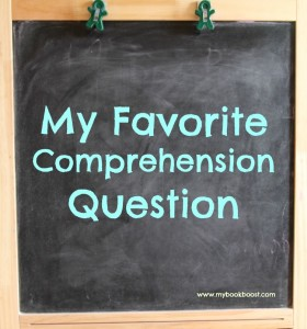 What's your favorite comprehension question? You've never thought about it, have you?! Get your students thinking with this great comprehension question!