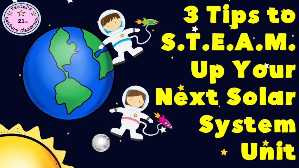 Teaching the solar system is always fun in elementary school; students love learning about outer space and other planets. Our guest blogger shares three tips for making a solar system unit even more fun by including STEAM elements! Click through to get more details for the upper elementary classroom.