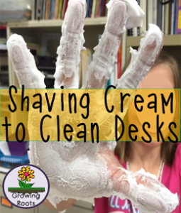 Shaving Cream to Clean Desks