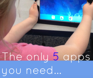 Overwhelmed by all of the educational apps available? Our guest blogger has narrowed down her list to the only five apps you need. See what you think of the apps on her list!