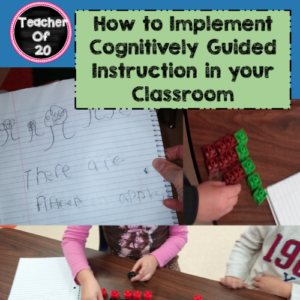 Cognitively Guided Instruction, or CGI, refers to focusing on the thought process behind solving math problems rather than the end results (in other words, the answer). There are three different ways to implement CGI, all of which are discussed in this post.
