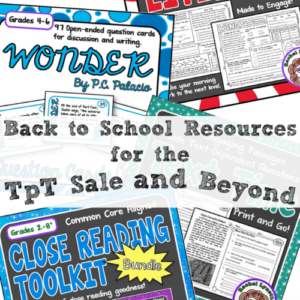 The TpT Sale for Back to School happened early in 2016, on August 1st and 2nd. These are a few resources that you'll definitely want to check out to help you prepare for back to school season!