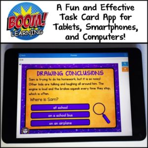 Have you heard of Boom Learning? Boom is an interactive task card app that allows your students to learn using technology in authentic ways!