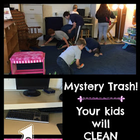 Mystery Trash is a quick game that you can play with your class to get your room cleaned up in a jiffy. Our guest blogger shares how to play in this guest post and gives tips on how to keep the trash items secret from your students!