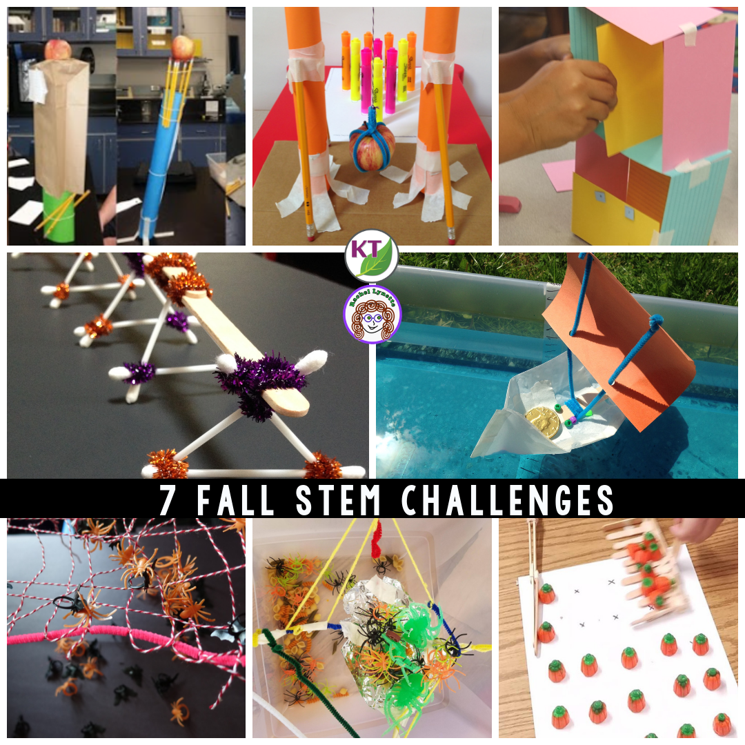 Back to School and Stem activities for fall Halloween, Thanksgiving