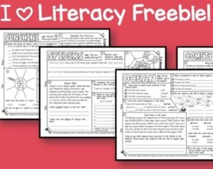 Grab Your I Heart Literacy Freebie!