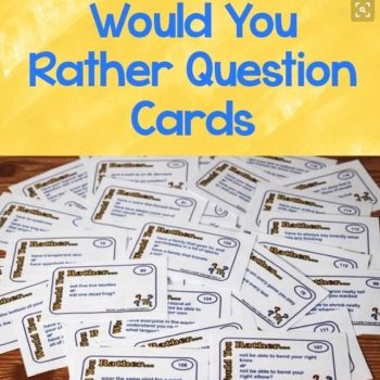 Would you rather question cards