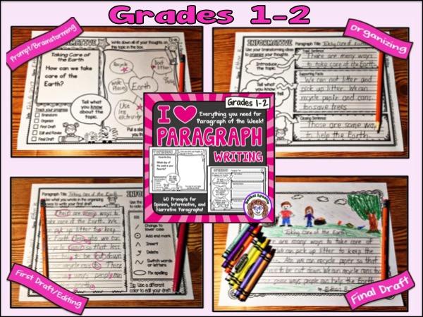 I Heart Paragraph Writing Grades 1-2