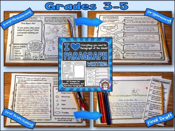 I Heart Paragraph Writing Grades 3-5
