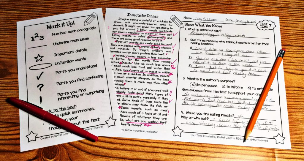 Text time for grades 3-5 close reading passages