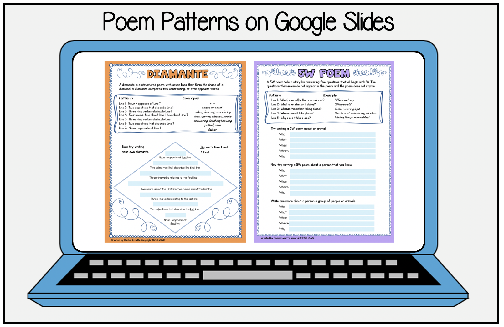 Poetry Patterns on Google Slides